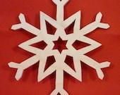 Unpainted Snowflake Ornament USA Made For The Christmas Season  uxflk01