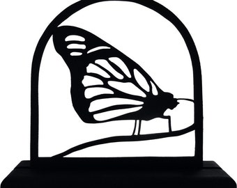 Monarch Butterfly Handmade Wood Display Silhouette Decoration - SBAI001