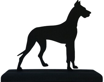 Great Dane Dog Handmade Wood Display  Silhouette Decoration - SADD003