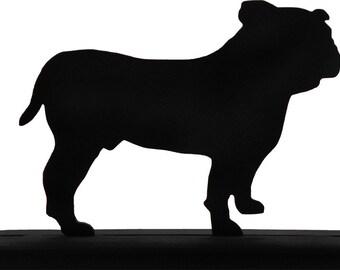 Handmade Wood Bull Dog Display Silhouette Decoration - SADD009