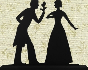 Formal Wedding Couple Made In USA Decorative Wood Silhouette scpl019