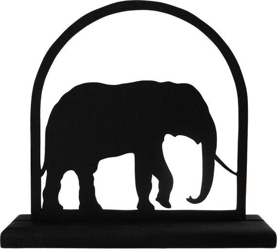 Bull  Elephant Handmade Decorative Wood Display Silhouette - SAWA003