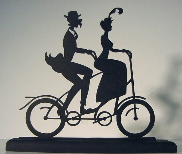 Old Tandem Bicycle Couple Decorative Wood by mountainbrook ...