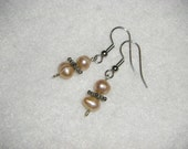 Peach Freshwater Pearl Earrings