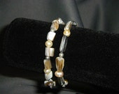 Freshwater Pearl and Shell Bracelet Set
