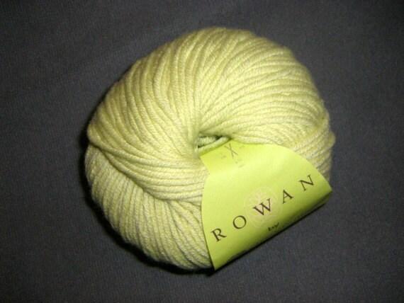 Chartreuse Organic Wool Cotton Yarn rowan by amy butler belle organic aran