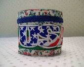 USA, A Lacy Wrist Cuff or Fabric Bracelet in Red, White and Blue