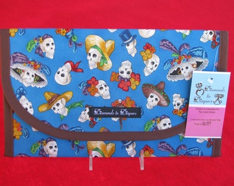Mexican Folk Diaper and Wipes Case Holder Clutch