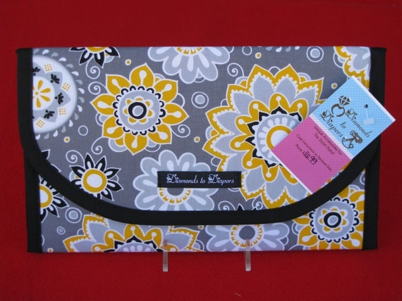 Petunia Diaper and Wipe Case Holder Clutch