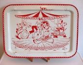 Carousel TV Tray - 1950's