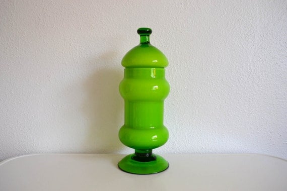 Chartreuse Apothecary Jar - 1960's - Italy