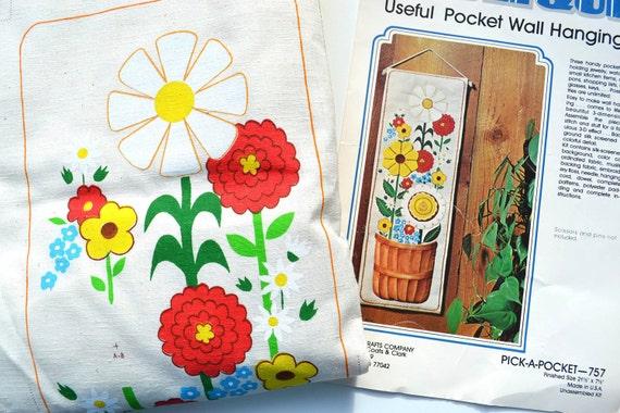Flower Power Pocket Wall Hanging Needlepoint Kit
