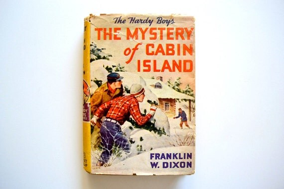 Hardy Boys The Mystery of Cabin Island - Copyright 1929 - 1950's Printing