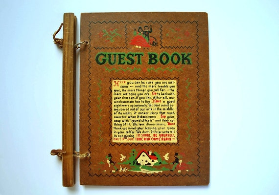 Charming Vintage Guest Book