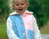 Little Girls Pastel Chenille Summer Lightweight Jacket