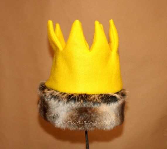 Wild Thing Crown with Faux Fur Trim
