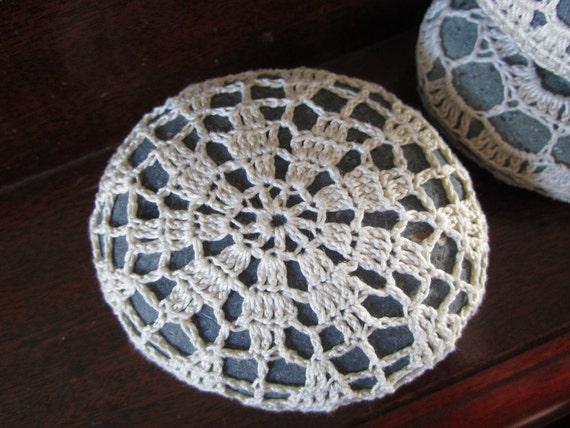 Crochet Covered Stone, Curious Pebble, Do Art Daily Show No.26