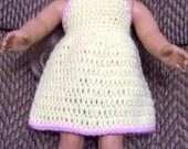 PATTERN - American Girl Halter Dress with Contrast Trim - Instant Digital Download