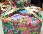Spring Bunny Print Fabric Kleenex Tissue Cover
