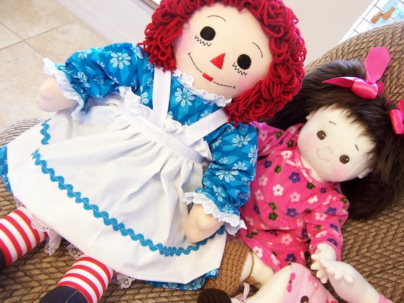 25 inch Raggedy Ann or Andy Doll Handmade - 25 Inches
