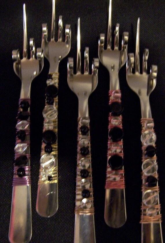 Funky florida finger forks set of 5 by timelesstreasuresbyb - Funky flatware sets ...