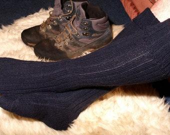 pdf pattern for Fishermens Socks and Kilt Hose in 5 ply gansey yarn - instant download