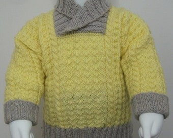 pdf pattern for Skerries Sweater for Children by Elizabeth Lovick - instant download