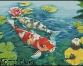 KOI FISH  cross stitch pattern No.560