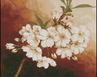 CHERRY BLOSSOM cross stitch pattern No.473