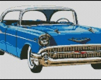 CHEVROLET 1957 cross stitch pattern No.311