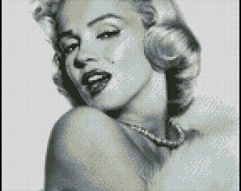 MARILYN MONROE cross stitch pattern No.522