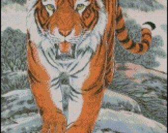 TIGER cross stitch pattern No.292