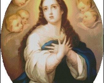 ST. MARY cross stitch pattern No.584