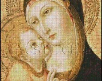MADONNA AND CHILD cross stitch pattern No.466