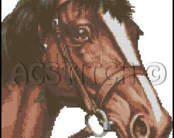 HORSE cross stitch pattern No.68