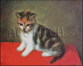 LITTLE KITTEN cross stitch pattern No.260