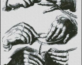 HANDS cross stitch pattern No.416