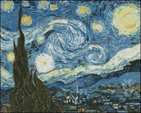 Vincent Van Gogh The Starry Night Cross Stitch Pattern No 501