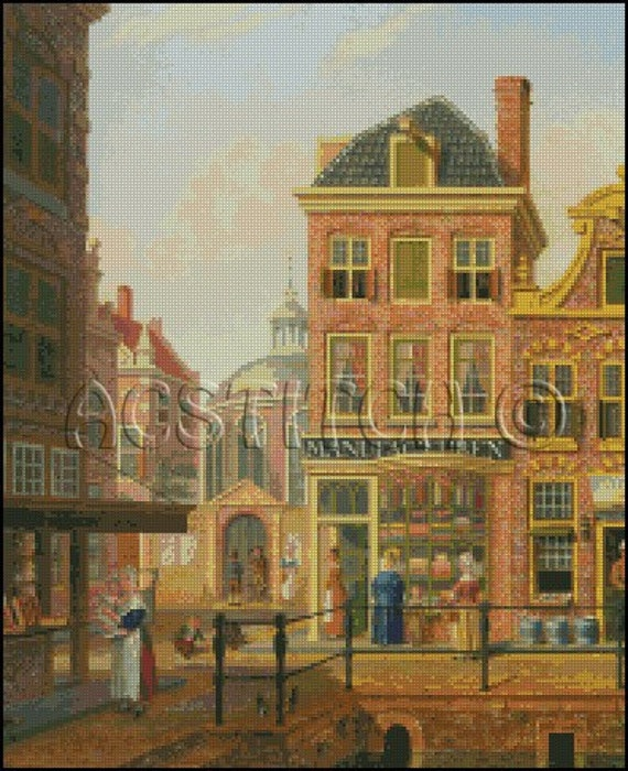 VIEW IN AMSTERDAM cross stitch pattern No.487