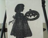 Halloween Pumpkin Girl Silhouette