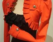 Red Victorian/military bolero jacket