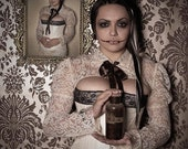 Cream victorian steampunk lace shrug