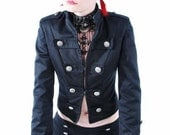 Victorian steampunk  military frack tailcoat jacket - blackmirrordesign