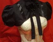 Black victorian evening shrug
