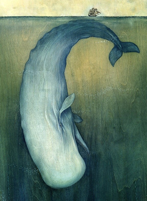 """11x17""""  Moby Dick or The Great Whale"""