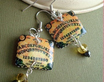 ouija board earrings , resin earrings, darkside earrings , gifts under 20