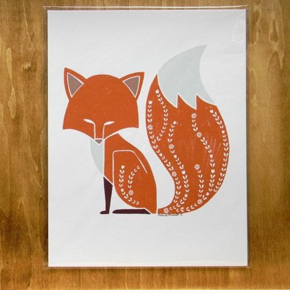 Foxy Fox - 8.5x11 print