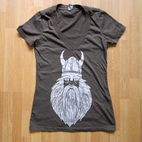 Viking Wooden Beard - Ladies v-neck