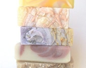 Pick 5 and SAVE - flat rate shipping, Handmade Cold-Process soaps by SoothingSuds