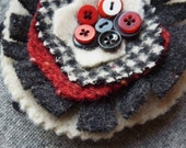 Colorful Recycled Wool Brooch